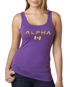 alpha american purple tanktop