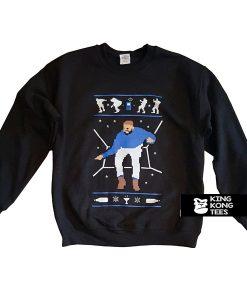 1-800 Hotline Bling Ugly Christmas Drake sweatshirt
