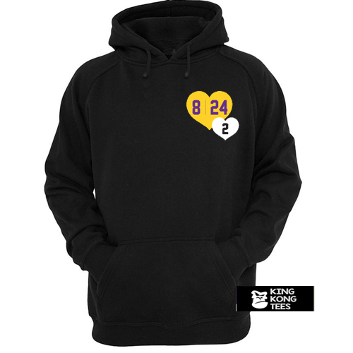 8 24 2 Kobe & Gigi in Hearts hoodie