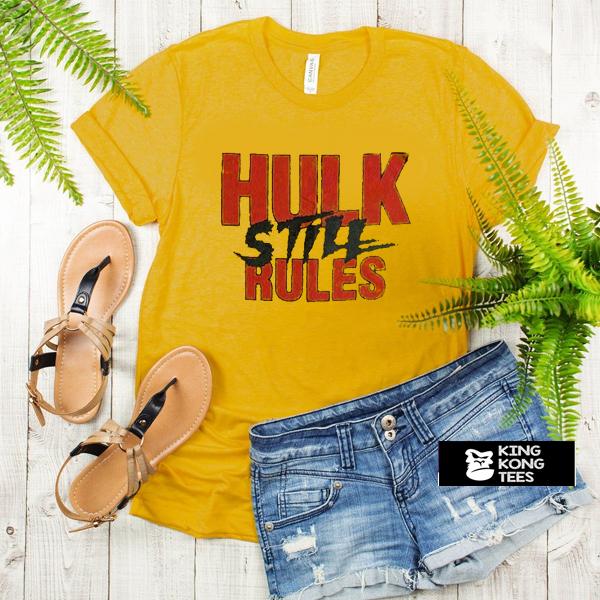 Hulk Hogan Hulk Still Rules WWF t shirt