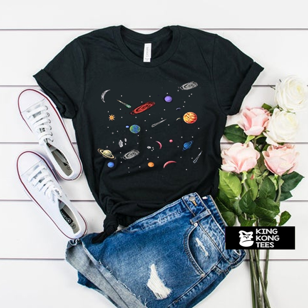 Space Planet Galaxy tshirt
