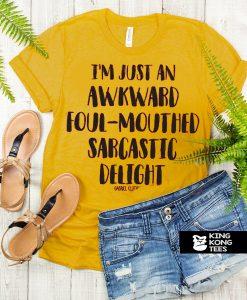 ' Awkward Foul Sarcastic t shirt