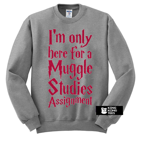 I'm Only Here For A Muggle Studies Assignment sweatshirt