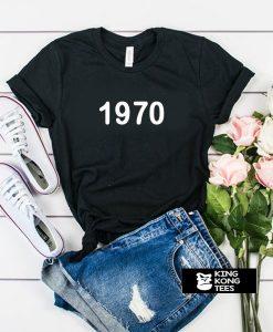 1970 font t shirt