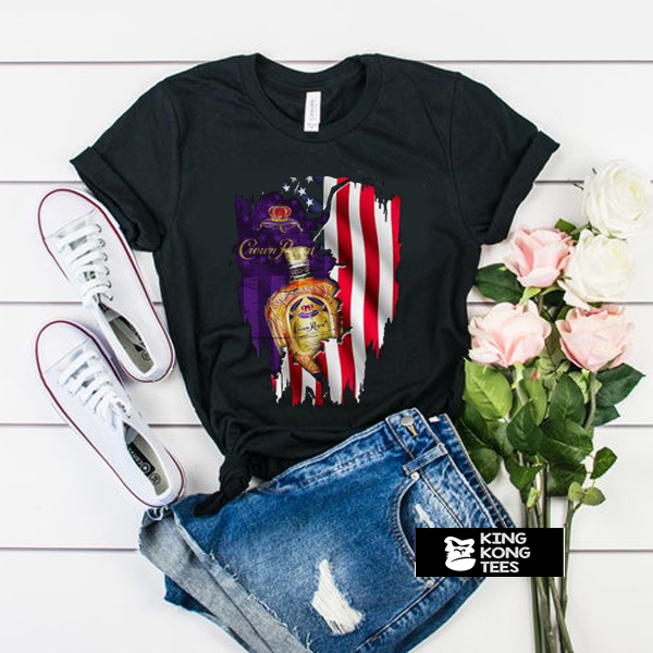 Independence day 4th of July Crown Royal America Flag t shirt