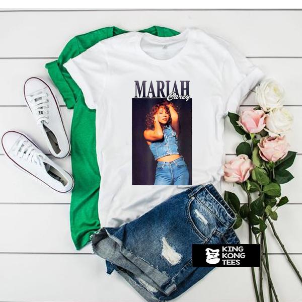 Mariah Carey In Jeans t shirt