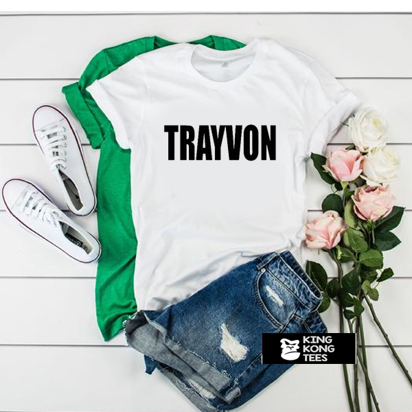 Trayvon Martin White t shirt