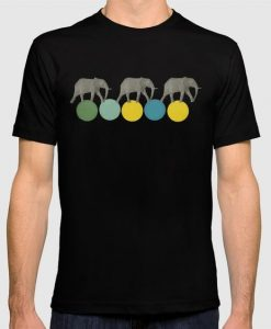 Travelling Elephants Graphic T-shirt