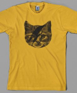 Ziggy Stardust Cat T Shirt